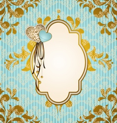 Vintage background with lace ornaments vector image vector image