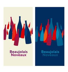 beaujolais nouveau concept abstract vector image