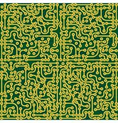 Circuit board seamless vector image vector image