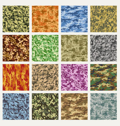 military and marine uniform camouflage patterns vector image