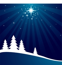 radial christmas background vector image vector image