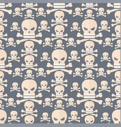 skull face character scary holiday design ghost vector image vector image