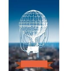 balloon over the city vector image