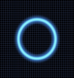 Neon circle on a dark background vector
