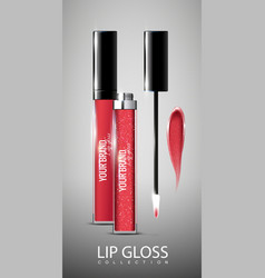 realistic lip glosses collection vector image