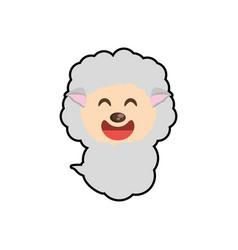 cute sheep animal character funny vector image vector image