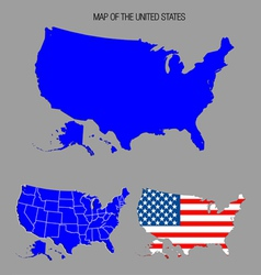 Map of the united states vector