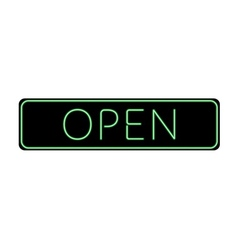 Open Sign Neon color vector image vector image