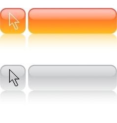 Pixel arrow square button vector image