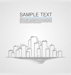 sketch city landscape background vector image
