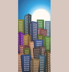 summer or spring cityscape height background vector image vector image