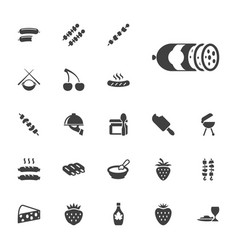 22 gourmet icons vector