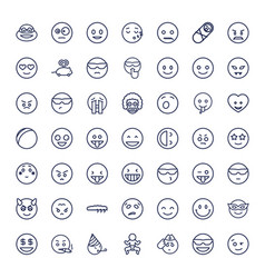 49 funny icons vector
