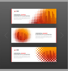 Abstract corporate horizontal web banners template vector