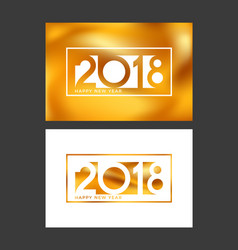 abstract greeting cards new year 2018 vector image