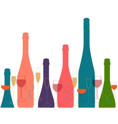 Alcoholic bar menu vector