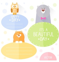 animals frame flat vector image
