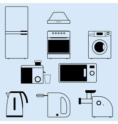appliances for the kitchen and home vector image