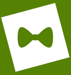 Bow tie icon white icon obtained as a vector