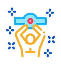 boxer champion icon outline vector image