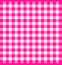 Buffalo plaid plastic pink tartan scottish cage vector