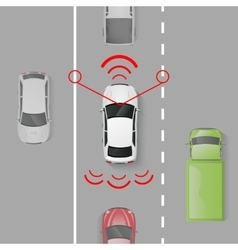 Car Safety System vector image