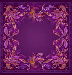 Ccolorful pinstriping bandana vector
