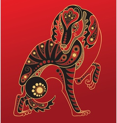 chinese horoscope year dog vector image