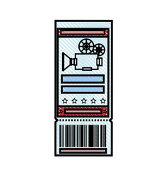 cinema ticket icon vector image