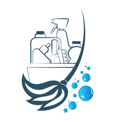cleaning and washing symbol vector image