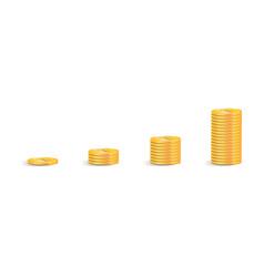 coin icon a stack gold coins as a graph vector image