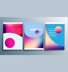 colorful gradient texture for flyer poster vector image