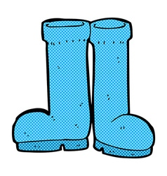 Comic cartoon rubber boots vector