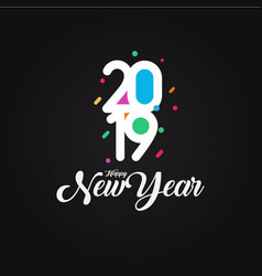 creative colorful happy new year 2019 design card vector image