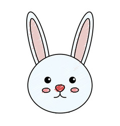 Cute and tender rabbit vector