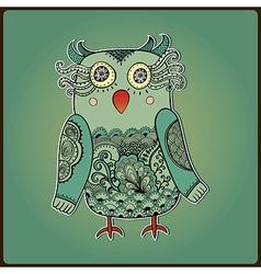 Cute Decorative Owl Lacy bird vector