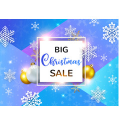 design for seasonal christmas sale vector image