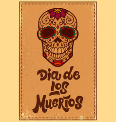 Dia de los muertos day dead mexican sugar vector