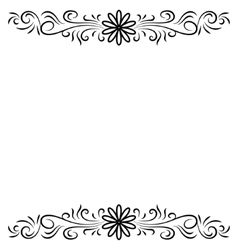 Doodle abstract handdrawn flower frame vector image