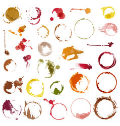 drink stains staining circles of coffee cup vector image