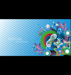 Festival banner carnival party background bright vector