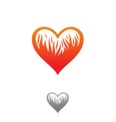 fire love vector image