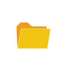 folder icon in flat design folder in yellow color vector image