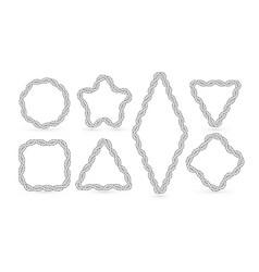 frames geometric shapes for marine design vector image