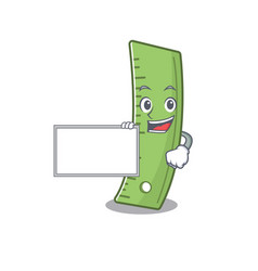 Funny ruler cartoon character design style board vector