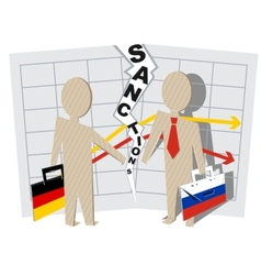 Germany sanctions against Russia vector image