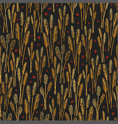 golden field stylized pattern texture print vector image