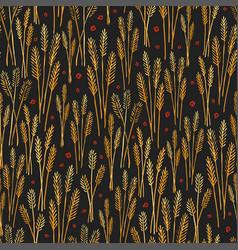 Golden field stylized pattern texture print vector