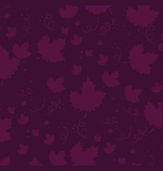 grapes leafs pattern background vector image