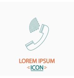 Handset computer symbol vector